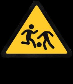 Cuidado, crianças brincando